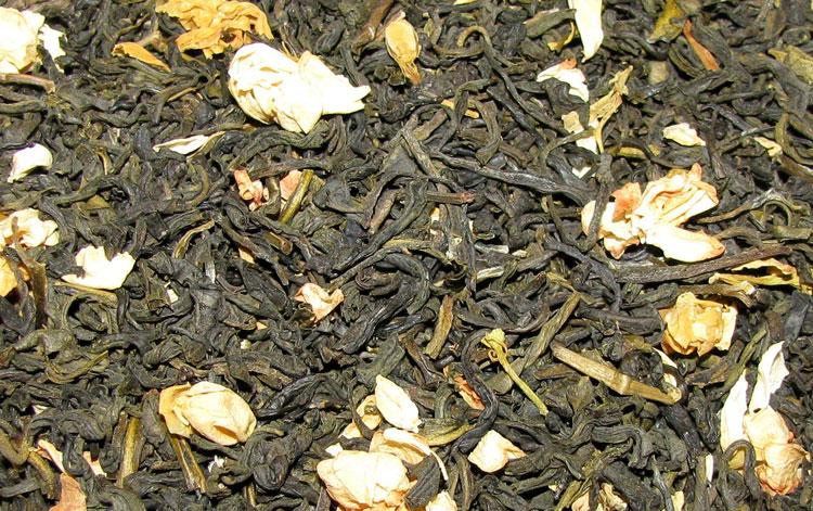 Черный и зеленый чай с жасмином