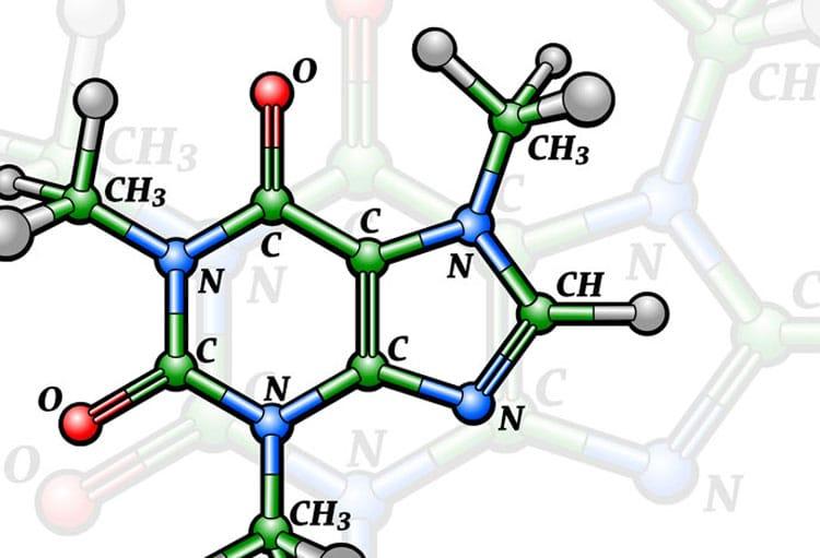 Как выглядит формула кофеина