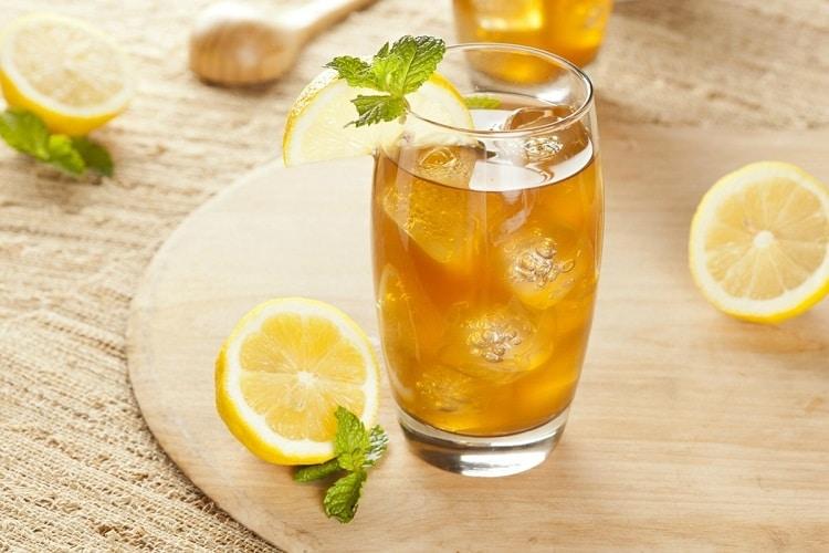 Цитрусовый чай с мятой