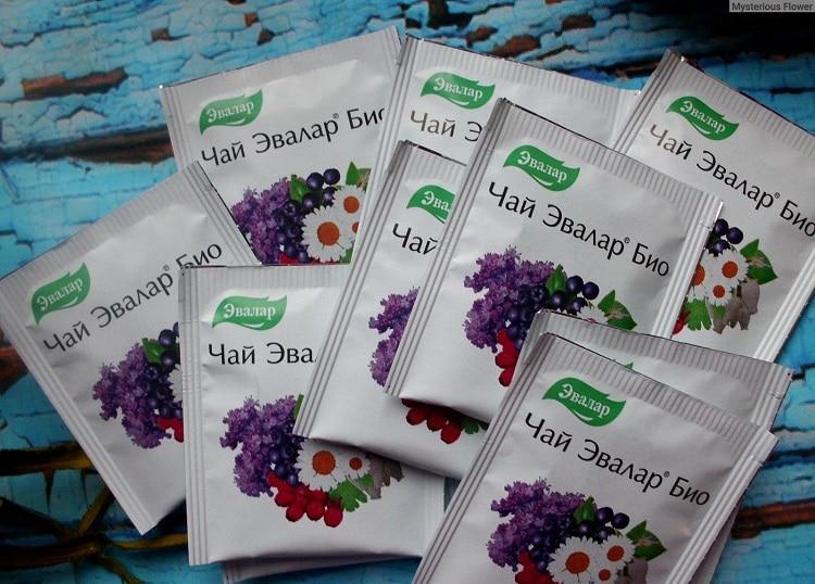 Пакетики чая Эвалар