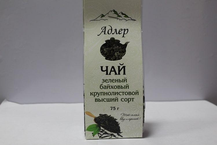 Зеленый чай в упаковке