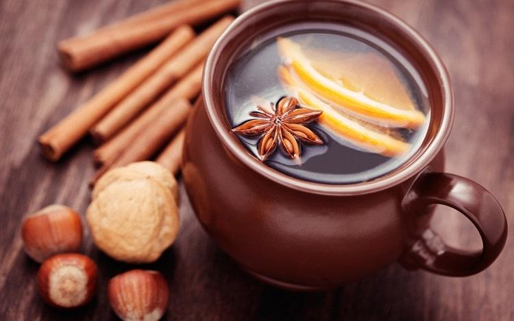Цитрусовый чай с корицей