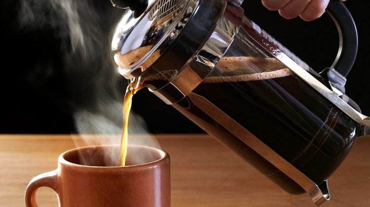 Готовый кофе из френч-пресса