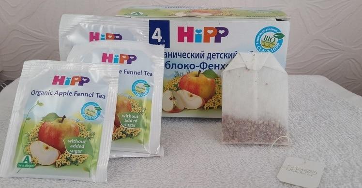 Пакетики чая Хипп