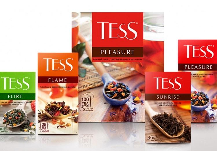 Упаковка чая Тесс