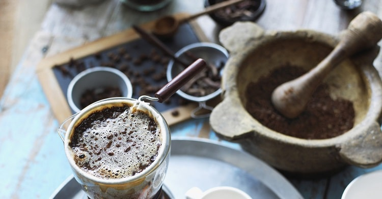 Готовый кофе из турки