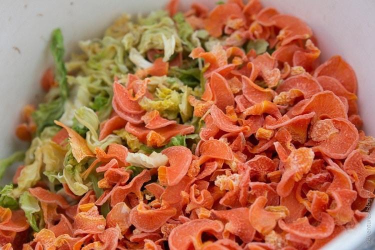 Блюда с сушеной морковью